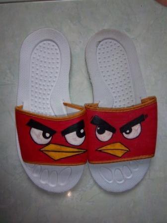 yogyakarta craft: sandal lukis angry bird