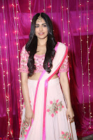 Adaa Sharma in White Pink Saree at Zee Telugu Apsara Awards 2017 27.JPG