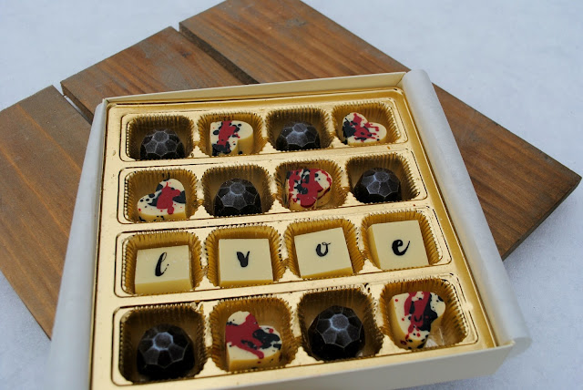 Maggies Confections box of Love chocolates