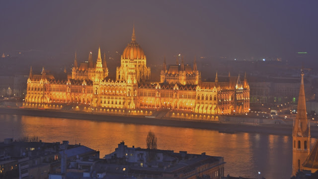 Budaest by night parliament