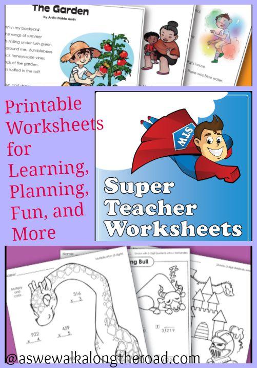 Super Teacher Worksheets Printable Worksheets For Learning
