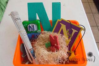 How to Make a Letter N Sensory Bin