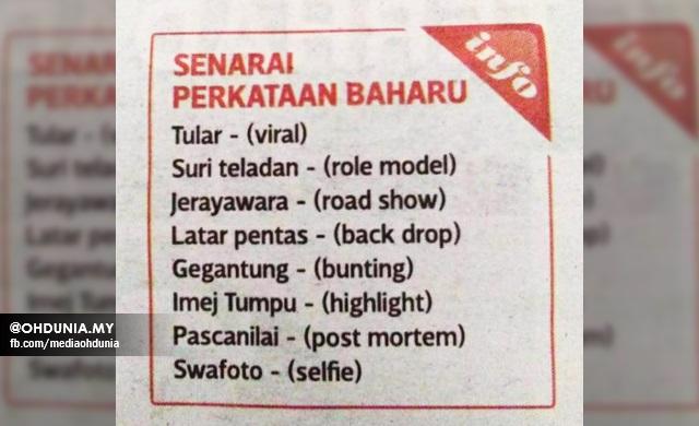 Perkataan Baharu Bahasa Melayu Yang Ramai Tidak Tahu Kewujudannya