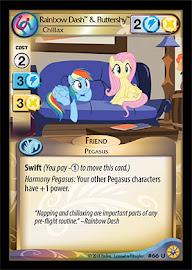 My Little Pony Rainbow Dash & Fluttershy, Chillax Friends Forever CCG Card
