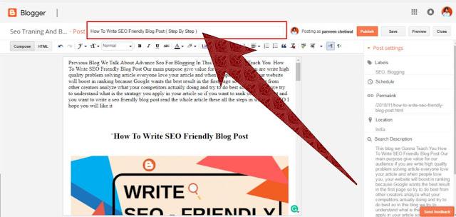 SEO Friendly Blog Title