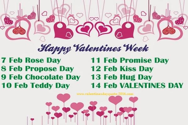 Valentine Days week List Wallpapers