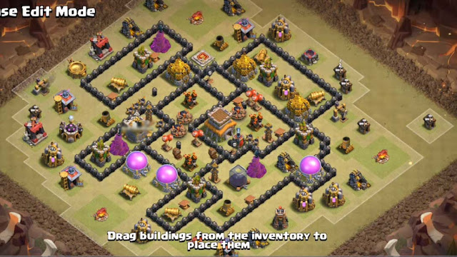 fully spread out excellently designed town hall 8 war base design