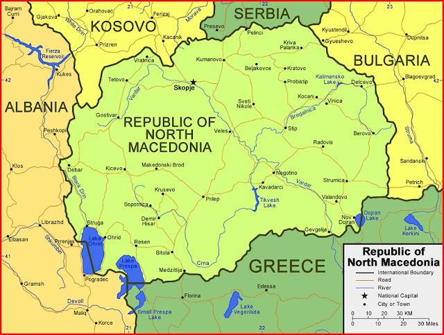 image: Republic of North Macedonia Map High Resolution