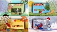 Four Seasons Calendar Slide Styles