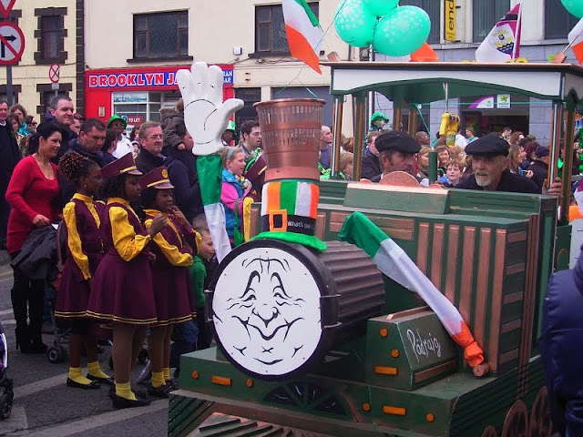 St Pattie's Day parade in Galway Ireland