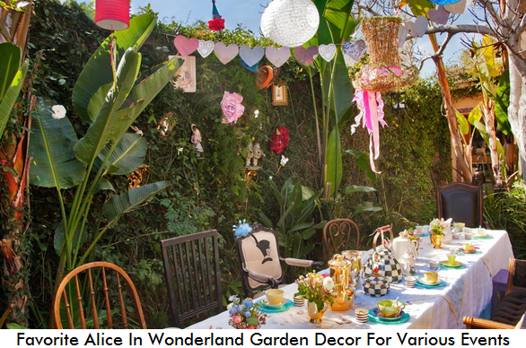 favorite alice in wonderland garden decor for various events, Garden idea