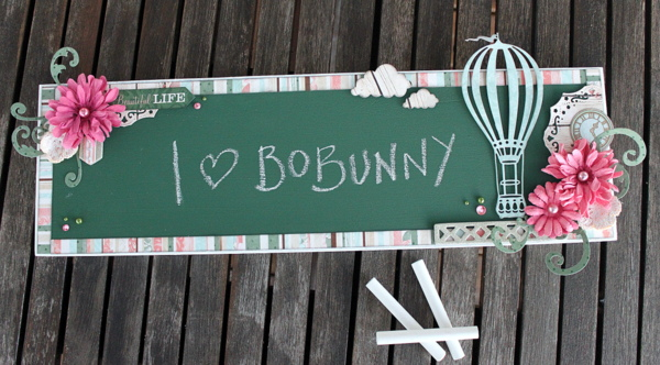 Chalkboard Alter by Ulrika Wandler using BoBunny Felicity Collection