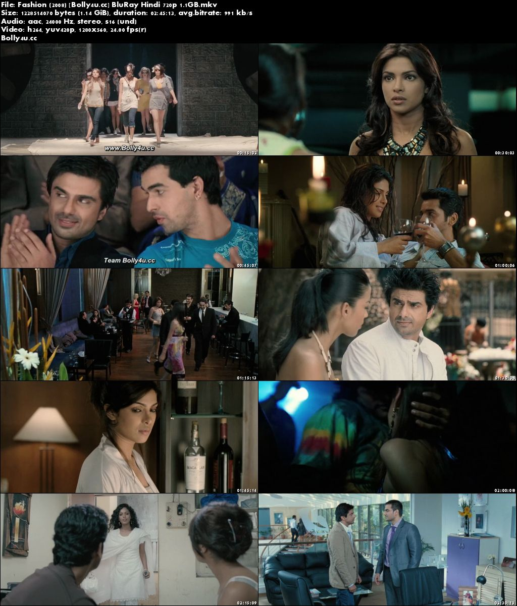 Fashion 2008 BluRay 450MB Full Hindi Movie Download 480p
