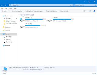 Gambar 5 - Cara Merubah Tampilan File Explorer Windows 8, 8.1, dan 10 Menjadi Gaya Windows 7