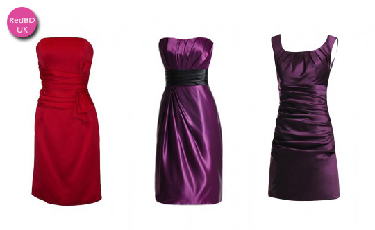 satin sheath short bridesmaid dresses