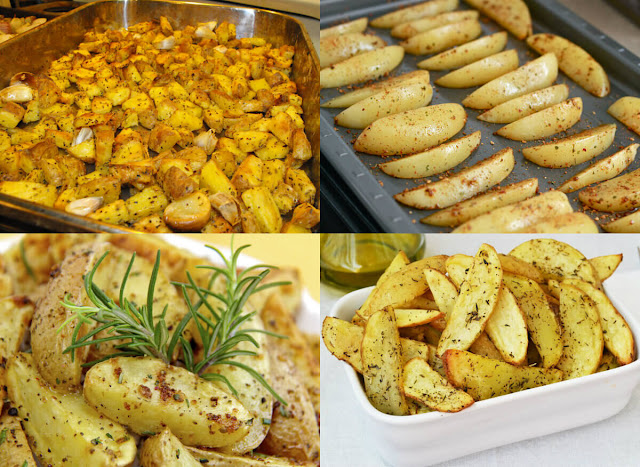 أحلى وأسهل طريقة لعمل البطاطس بالفرن بطريقة سهلة وبسيطة جداً وفي المنزل!