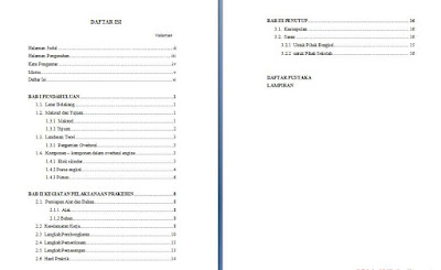 Contoh Daftar Isi Membuat Laporan Prakerin Dengan Benar