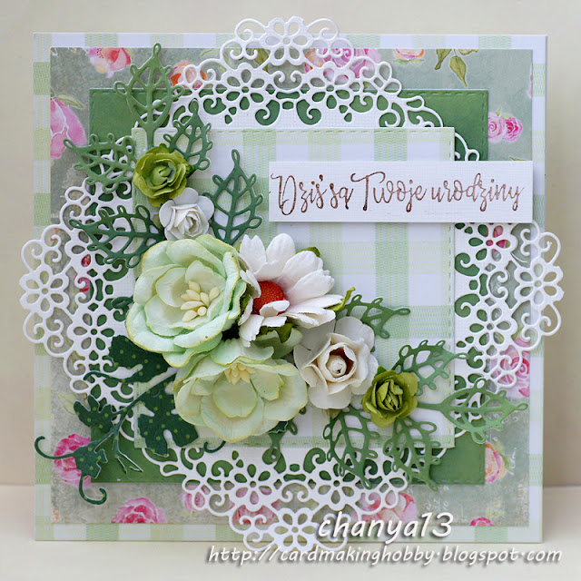 56. Zielona kartka urodzinowa