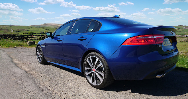 Jaguar XE rear three-quarter view