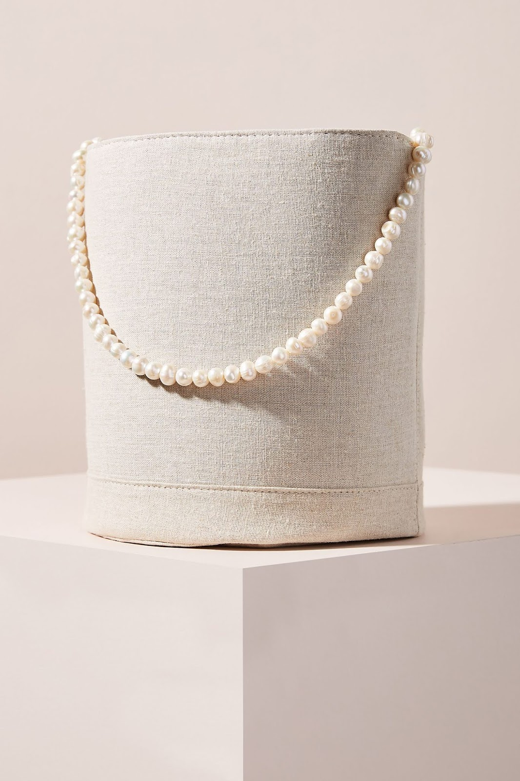 We're Crushing On This Pearl Handle Bucket Bag