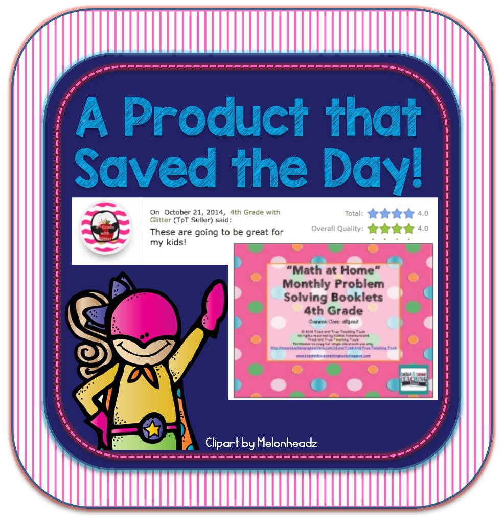 Superhero Product: Math at Home Monthly Problem Solving