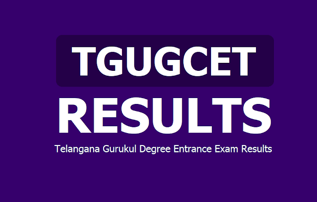 TGUGCET Results 2019: Telangana Gurukul Degree Entrance Exam Results 2019