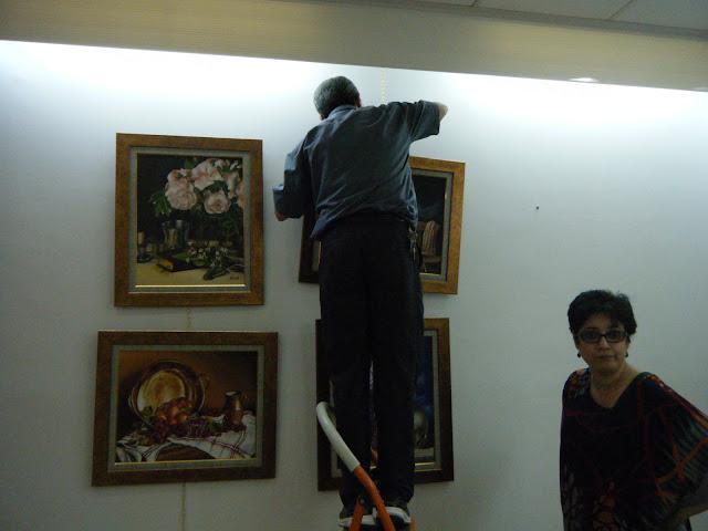 Préparatifs de l'expo de l'atelier artémisia 2