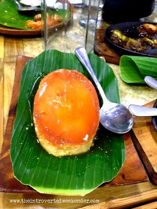Leche flan at Apag Marangle