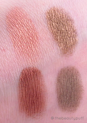 the organic face mesa swatches - the beauty puff