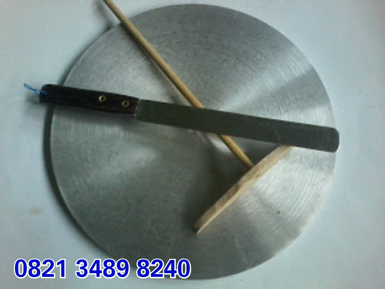 Wajan Crepes Loyang Model Manual Jual Bahan Curah Aluminium Ukuran 30 Cm Diameternya Tebal 10