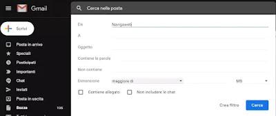 creare filtri gmail