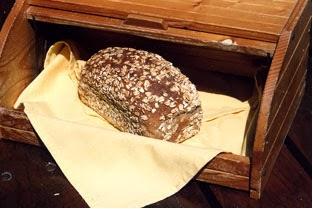 Bread in a bread storage bin