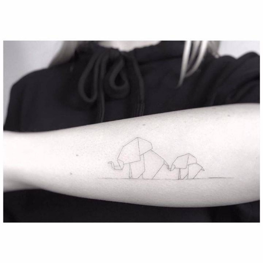 Cute Elephant Tattoo For Women and Men