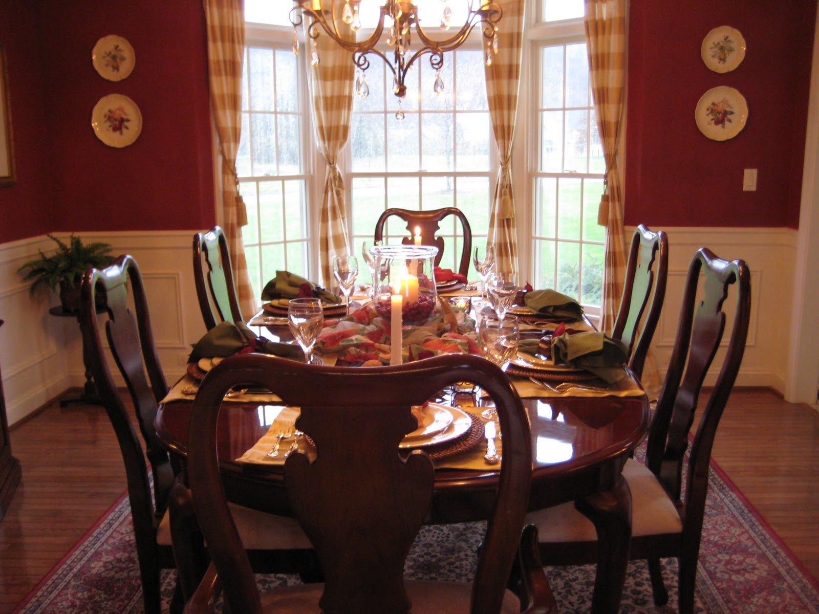 calypso in the country red dining room revisited