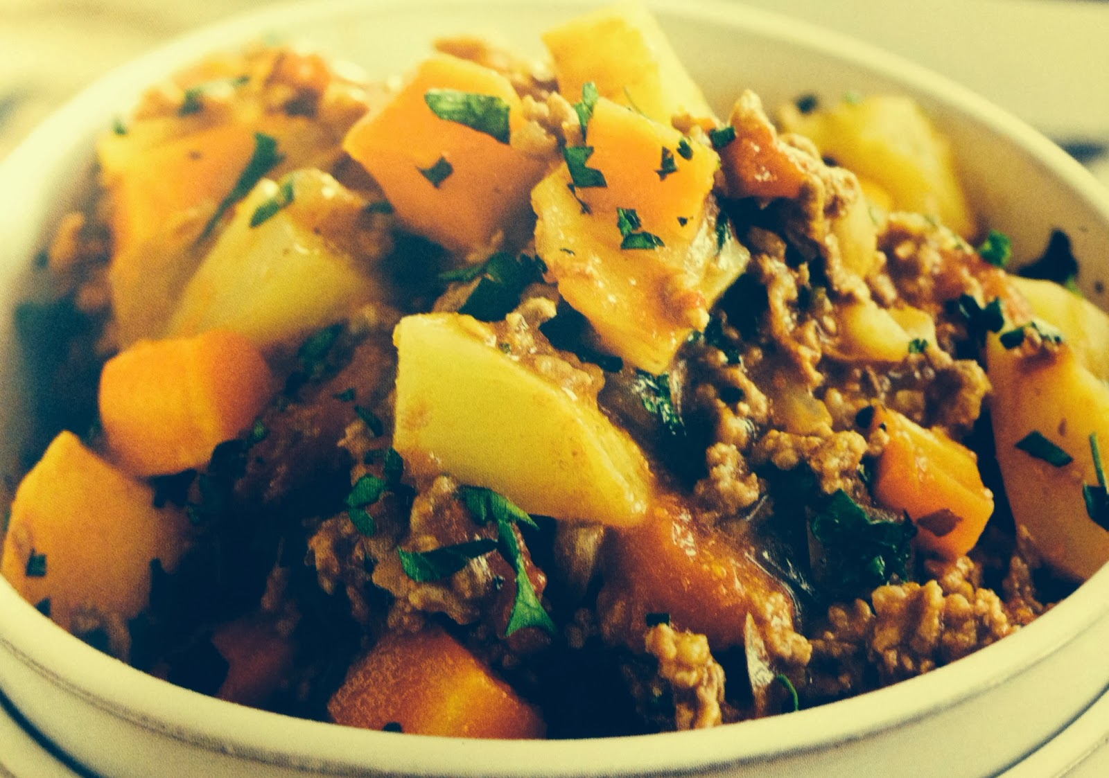 minced beef hash winter warmer recipe