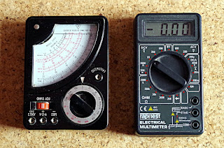 volts amps ohms meter analogue digital