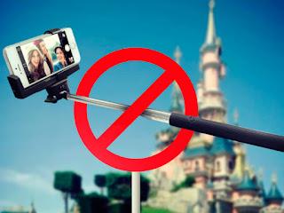 proibição de selfie na disney