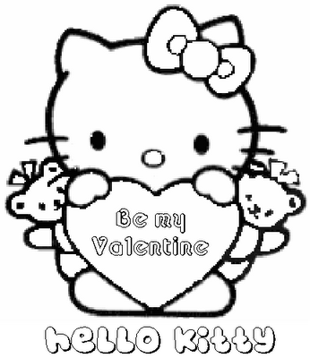 Coloring pages to download and print. Free Love Quotes Hello Kitty Valentines Day Coloring Pages