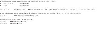Windows 10 - File HOSTS modificato