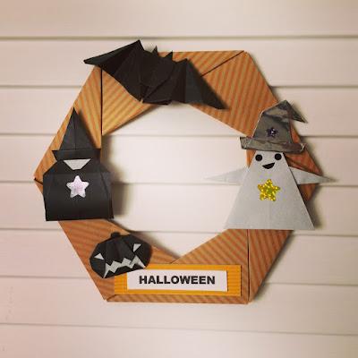 折り紙でハロウィンのかぼちゃやおばけ