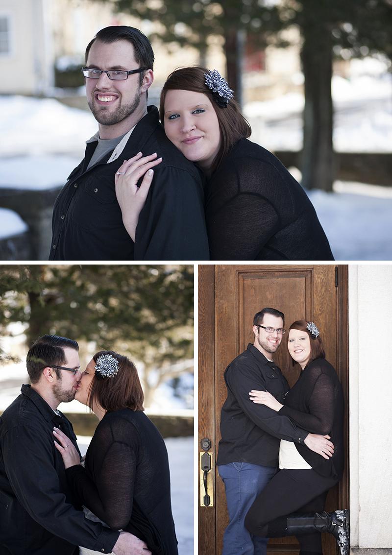 Sandra Jackson Photography Western PA Photographer snowy engagement session Parker, PA