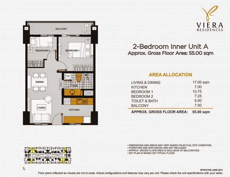 Viera Residences 2 Bedroom Inner Unit-A