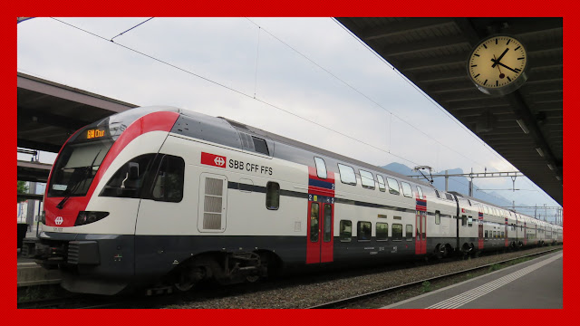 Swiss rail train in Sargans station
