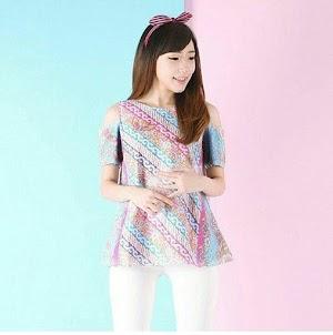 13 Model Baju Motif Batik Bunga Kombinasi Terbaik dan Terpopuler