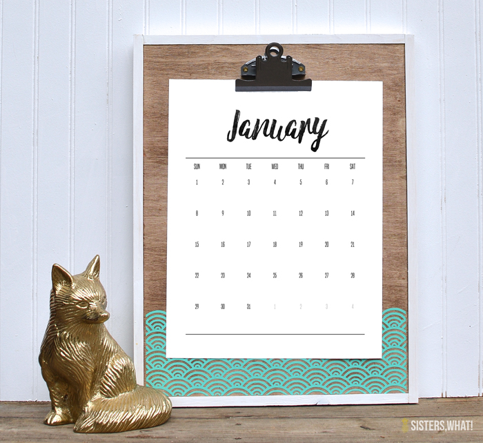 2017 Calendar Free Printable Handwritten