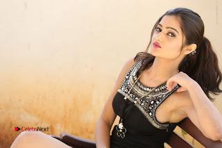 Actress Poojitha Pallavi Naidu Stills in Black Short Dress at Inkenti Nuvve Cheppu Movie Platinum Disc Function  0288.JPG