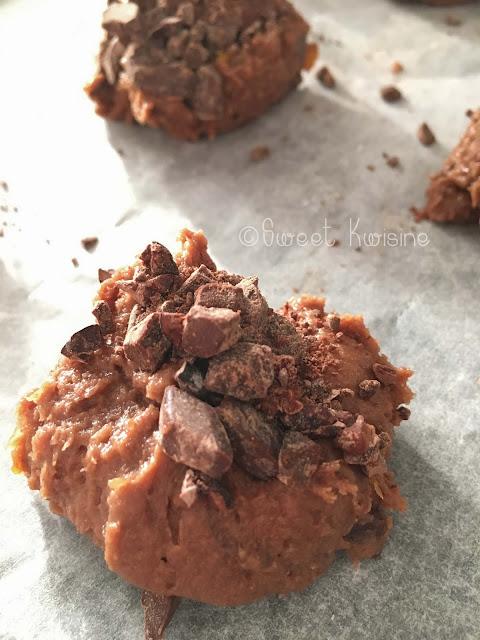 sweetkwisine, chocolat, cacao, mandarines confites, cookie