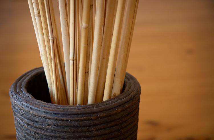 Art Wall Decor Dried Bamboo Sticks Photo