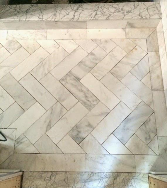 This Old House New: Master Bath Tiles Cont….Herringbone Floor