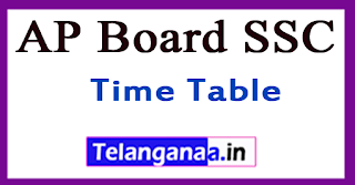 AP Board SSC Time Table 2018